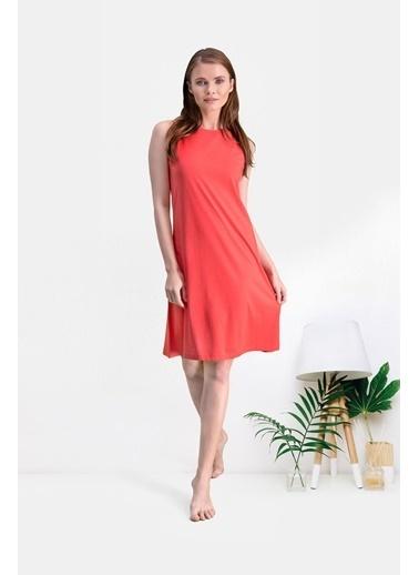 Pierre Cardin Pierre Cardin Nar Kadın Elbise Kırmızı